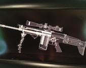 SCAR 17 rifle CAT scan gun print - ready to frame