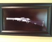 MP 28 submachinegun  CAT scan gun print - ready to frame