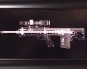 Kel Tec RFB rifle CAT scan print - ready to frame