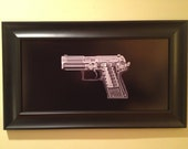 HK USP .45 pistol CAT scan - ready to frame
