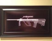 AUG A1  CAT scan gun print - ready to frame