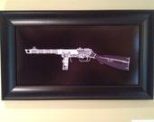PPSH -41 submachine gun CAT scan gun print - ready to frame