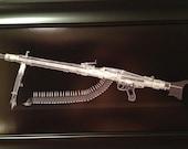 MG 42 belt fed machine gun Xray print