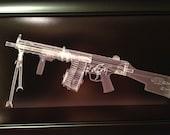 HK 11K machine gun CAT scan  print - ready to frame