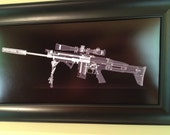 SCAR 16  CAT scan gun print - ready to frame
