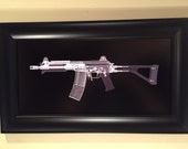Micro Galil machine gun  CAT scan  print - ready to frame