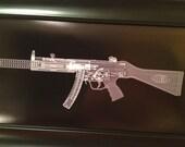MP5 SD Submachine gun CAT scan gun print - ready to frame