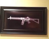SIG 551 rifle   CAT scan print - ready to frame
