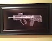 TAVOR   CAT scan gun print - ready to frame