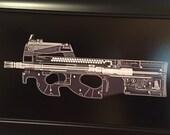 FN P90 sub machine gun Xray Guns print