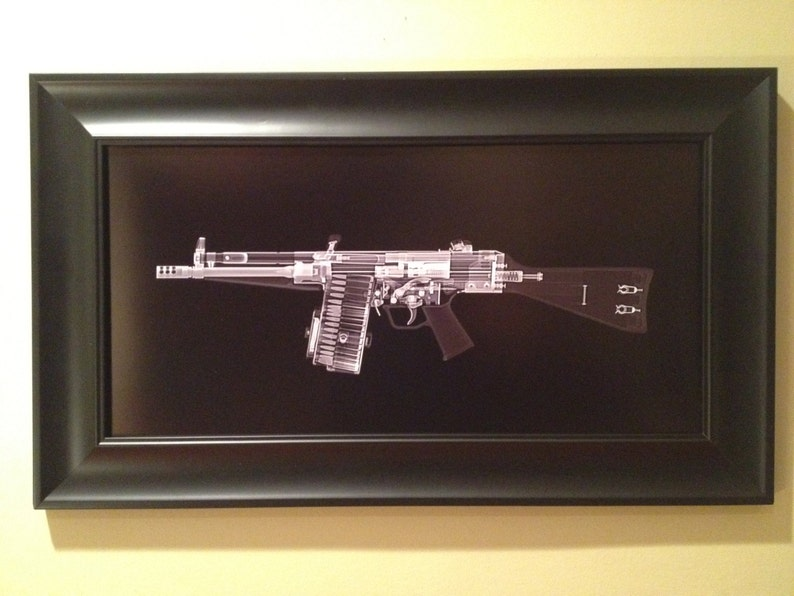 HK 51 machine gun CAT scan gun print  ready to frame image 0