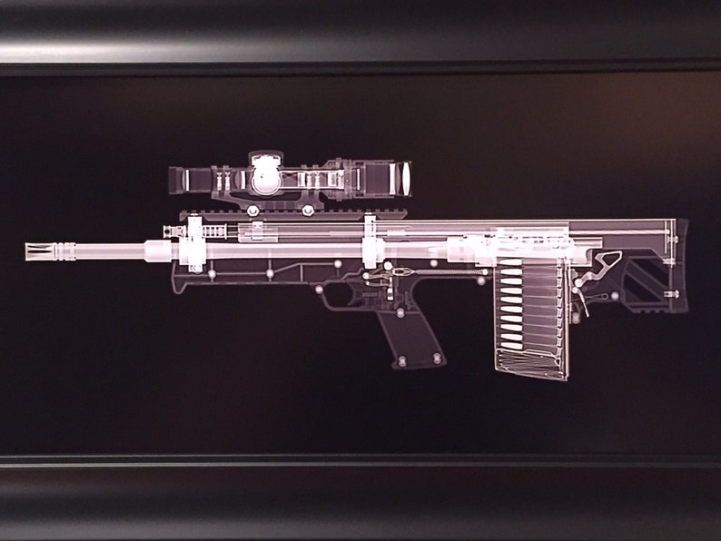 Kel Tec RFB rifle CAT scan print  ready to frame image 0