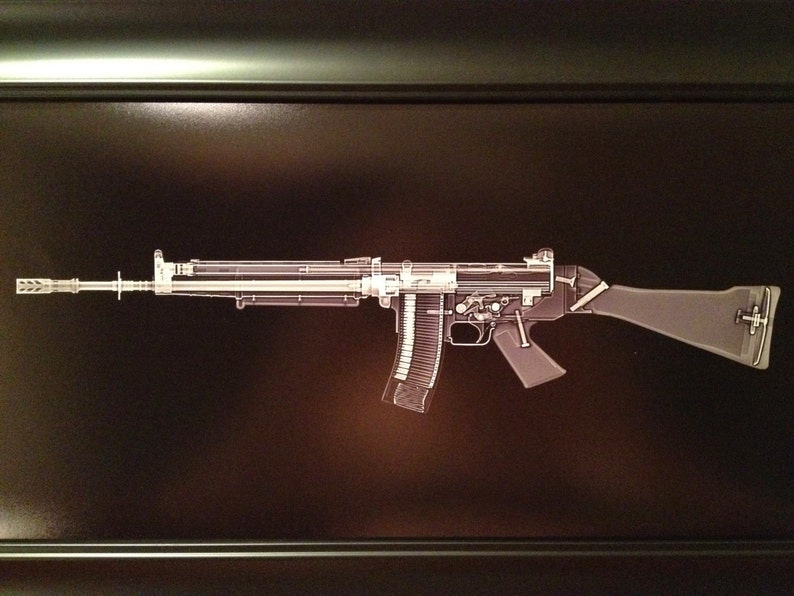 FN FNC rifle    print  ready to frame image 0