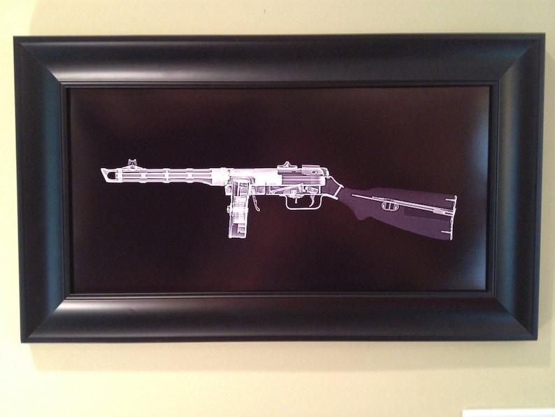 PPSH 41 submachine gun CAT scan gun print  ready to frame image 0