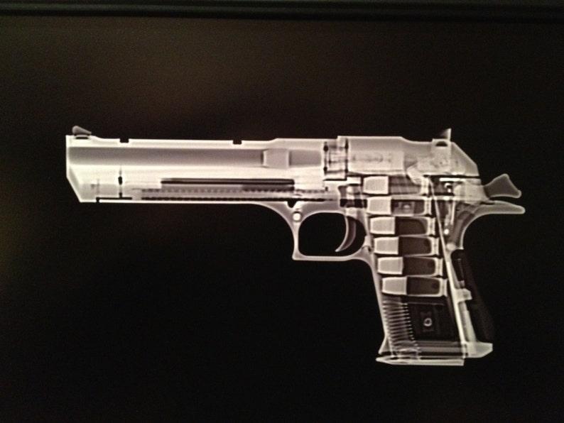 Desert Eagle  pistol CAT scan  ready to frame image 0