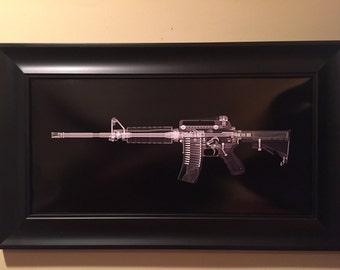 AR15  CAT scan gun print