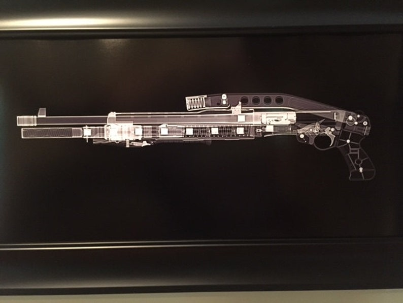 Franchi SPAS-12 CAT scan shotgun print  ready to frame image 0