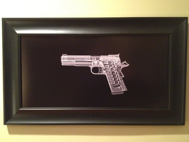 1911 pistol CAT scan  ready to frame image 0