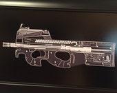 FN P90 sub machine gun Xray Gu...