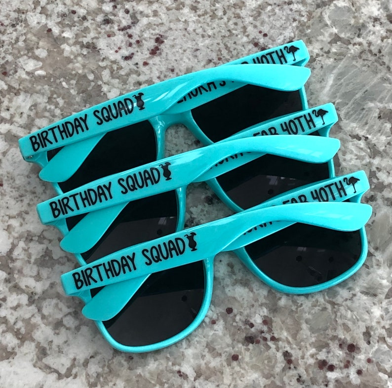 40th Birthday 30th Birthday Birthday Sunglasses All Must Match Personalized Sunglasses Dirty Thirty Discounted Sunglasses