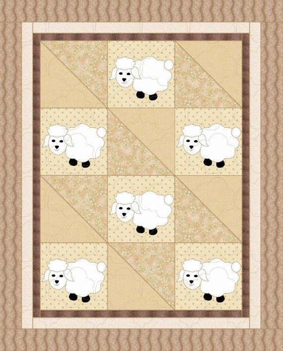 Sleepy Time Sheep Baby Quilt Pattern Etsy