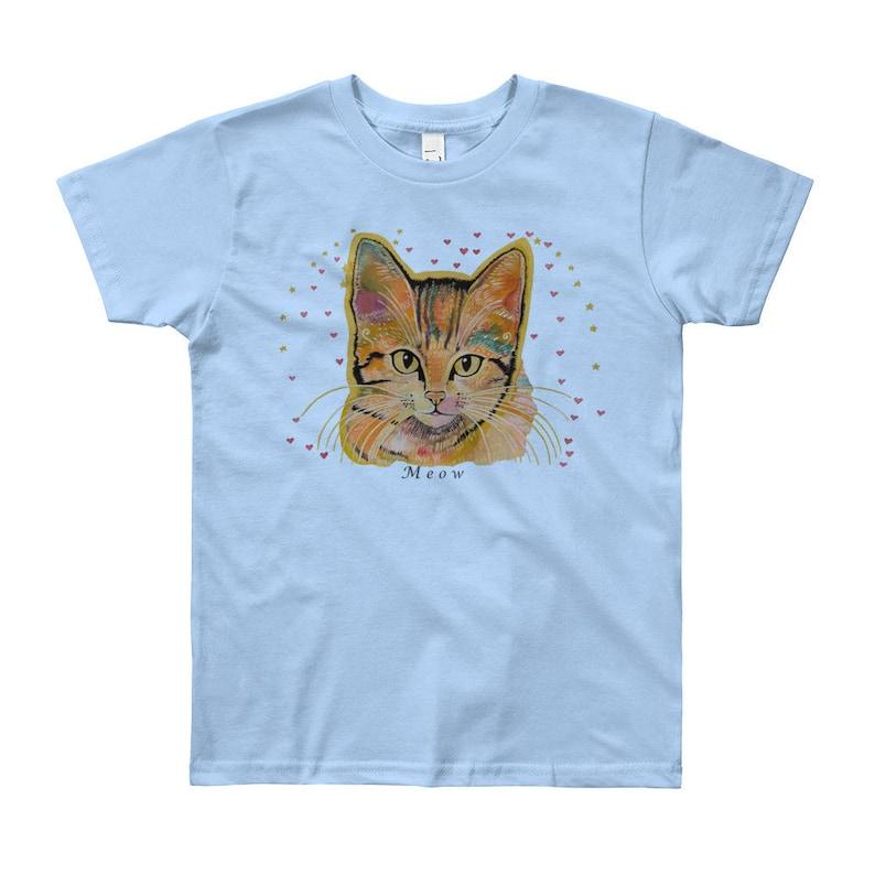 693c3667e Youth Cat T-Shirt Youth Yoga Cat shirt 8 years cat T-shirt | Etsy