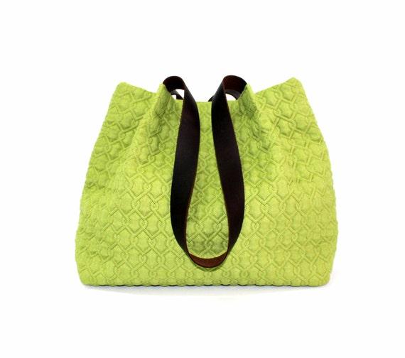3ca173f46bbf5 light green handbag lime green tote bag brown real leather