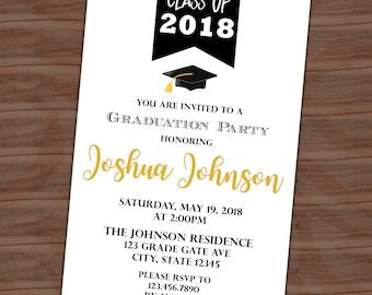 graduation party invitation graduation announcement tassel etsy