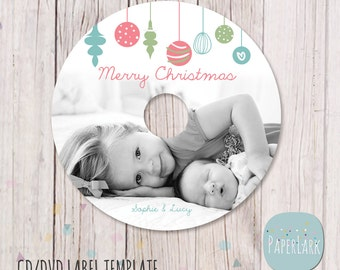 christmas cd template christmas dvd template cd labels etsy