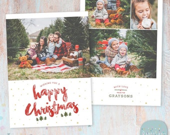 Your Studio Christmas Card Template Photoshop Template Etsy