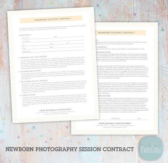 Newborn photography contract template newborn photographer | etsy.