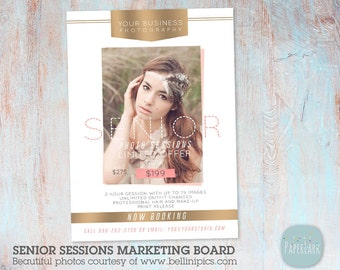 Senior Marketing Board - Photoshop template - IS010 - INSTANT DOWNLOAD