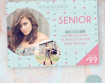 Senior Marketing Board - Photoshop template - IS014 - INSTANT DOWNLOAD