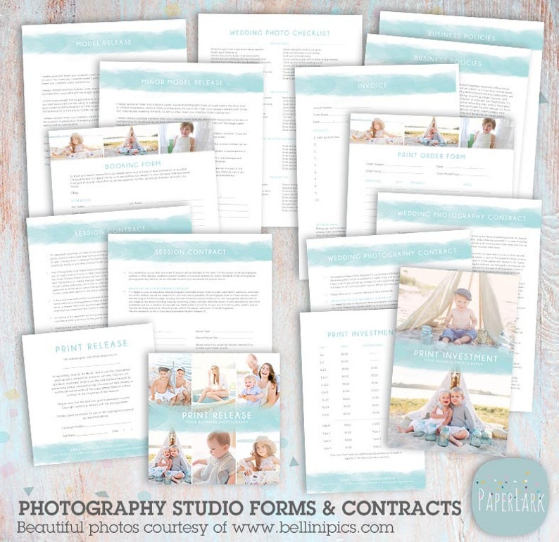 Photography Business Forms and Contracts - NG036 - INSTANT DOWNLOAD