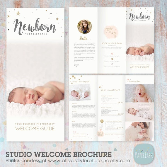 Newborn Trifold Brochure Flyer Photography Guide Dl Size