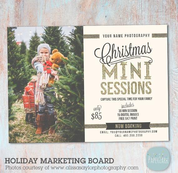 Christmas Mini Session Template Photography
