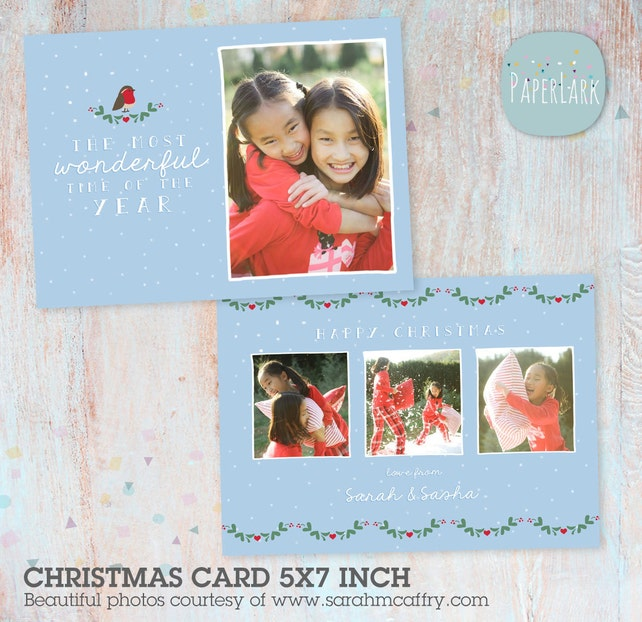 Christmas Cards Christmas Bundle Xmas Card Template Merry