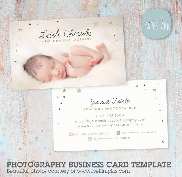 Birth announcement templatePhotography Business Card - Photoshop template - VG016 - INSTANT DOWNLOAD
