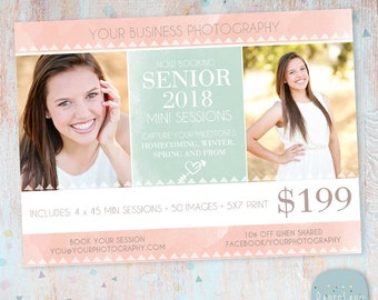 Senior Photography Marketing - Photoshop template - IS006- INSTANT DOWNLOAD