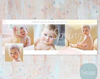 ON SALE Spring Photography Facebook Timeline - Photoshop template - HE006 - Instant Download