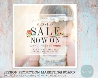 Photography Sale Marketing Board - Photoshop Template - IB006 - Instant Download