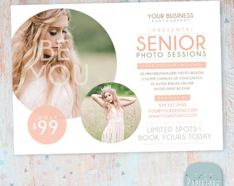 Senior Marketing Board - Photoshop template - IS011 - INSTANT DOWNLOAD