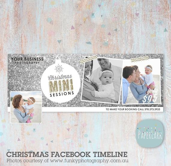 Christmas, Mini Session, Facebook Timeline, Christmas Facebook, Timeline, Social Media, Photoshop Template, HC015 - INSTANT DOWNLOAD