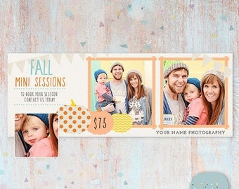 ON SALE Fall Facebook Timeline - Photoshop Template -HF001 - Instant Download