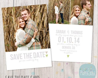 Save the Date Card Template - AW007 - INSTANT DOWNLOAD