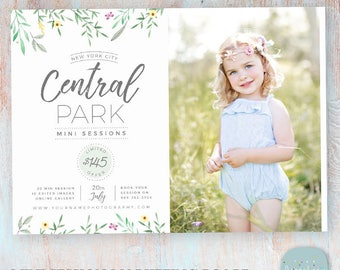 Mini Session Marketing Board - Photoshop template - IG015 - INSTANT DOWNLOAD