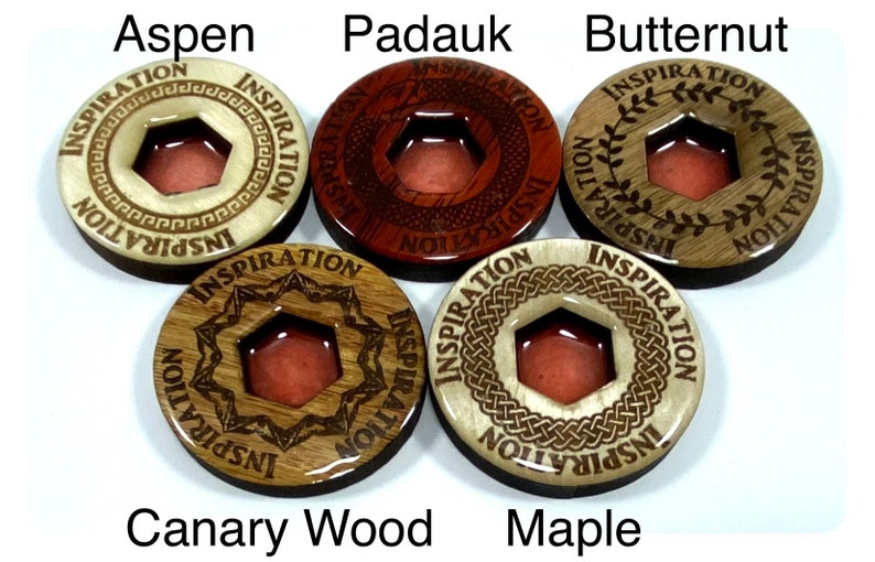 Inspiration Tokens Engraved Hardwood and Resin D/&D 5E