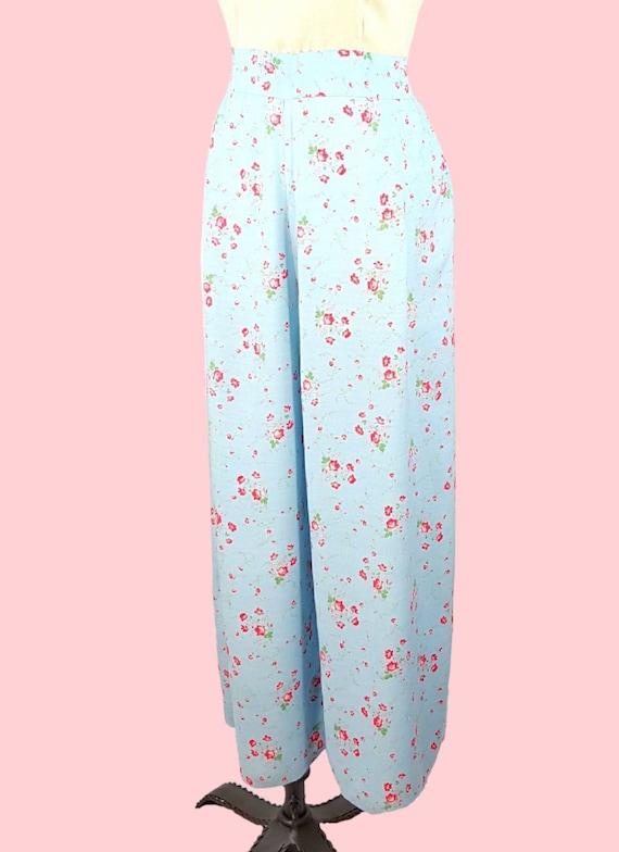 SOLD!! - RARE Vtg 1930s Beach Pajamas M/L ~ Softe… - image 5