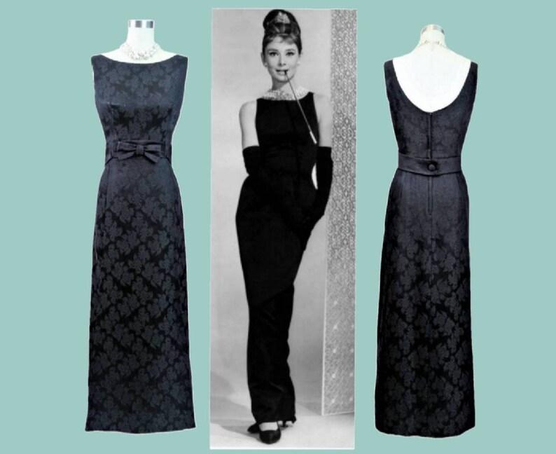 e174482b9a03 S Vintage 1960s Black Dress Stunning Evening Gown Long Dress | Etsy