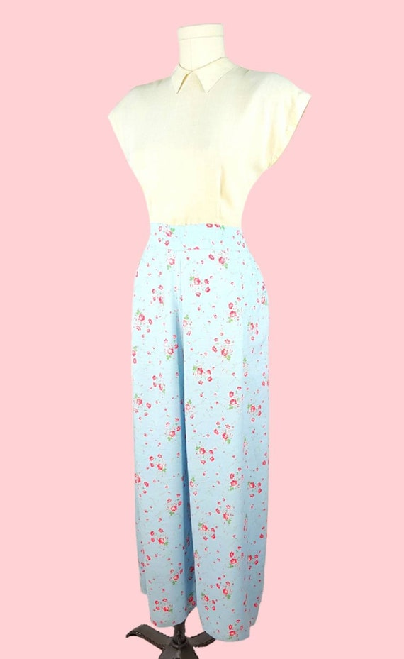 SOLD!! - RARE Vtg 1930s Beach Pajamas M/L ~ Softe… - image 8
